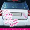 Startbild Auto Aufkleber Fahranfänger mit süßem Fuchs