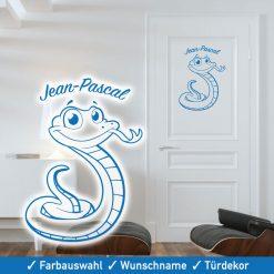 Startbild Tür Tattoo Kinderzimmer Schlange mit Wunschname
