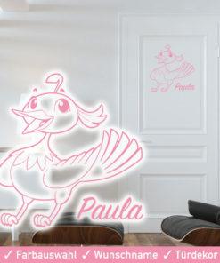 Startbild Türdekor Kinderzimmer Vogel mit Wunschname