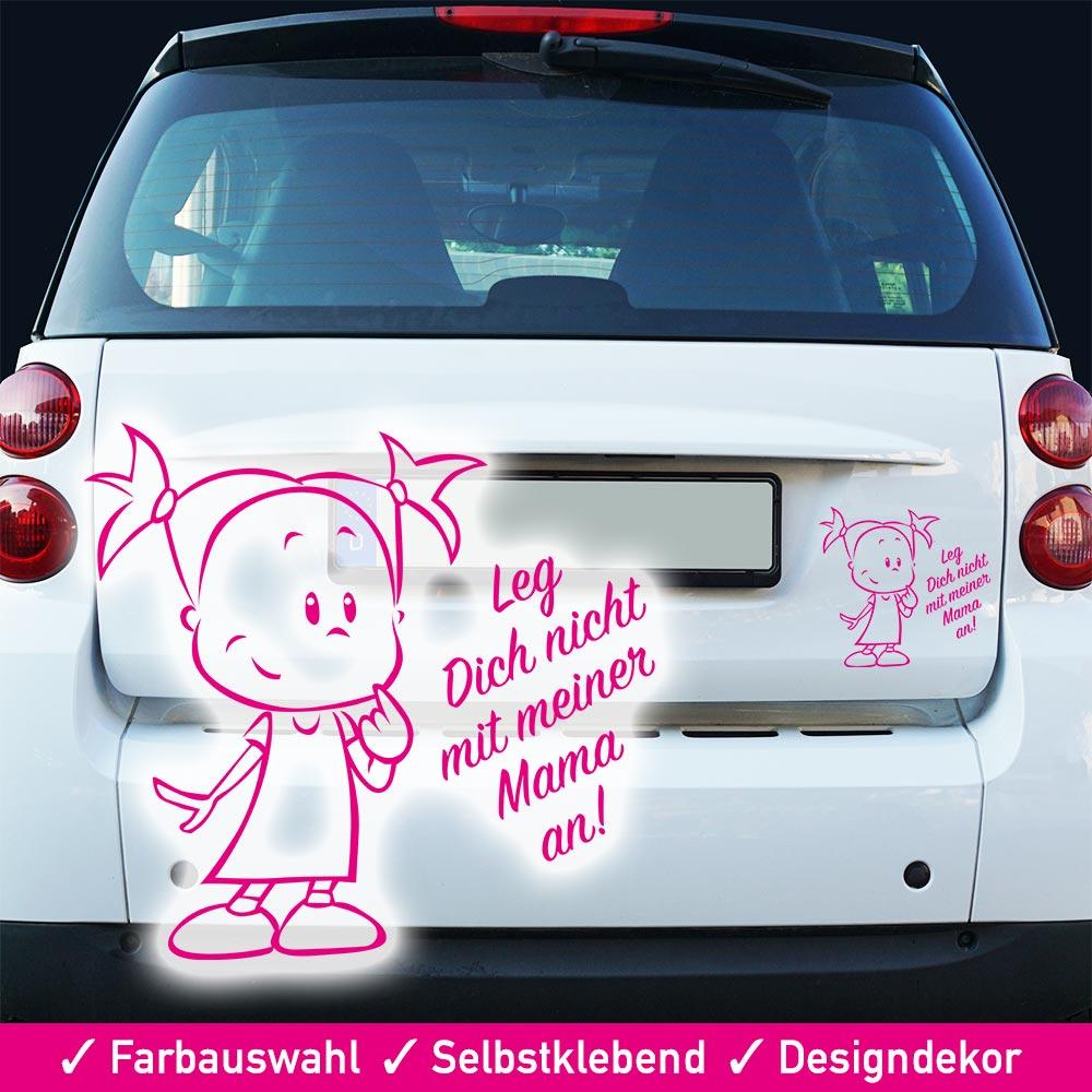 Startbild Autoaufkleber Spruch - Leg dich nicht mit meiner Mama an -
