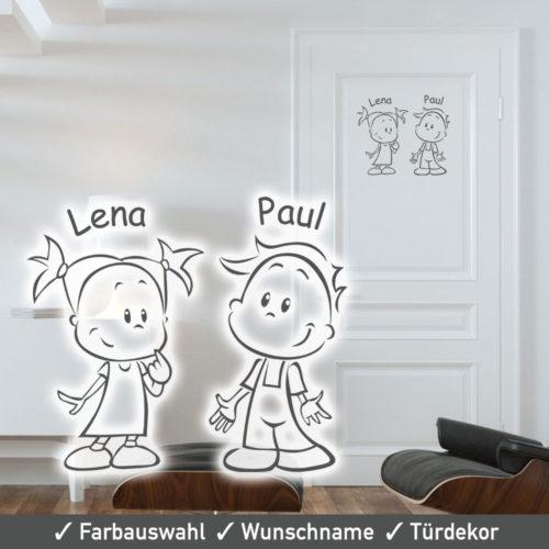 Startbild Türtattoo Geschwister Pärchen in vielen tollen Farben