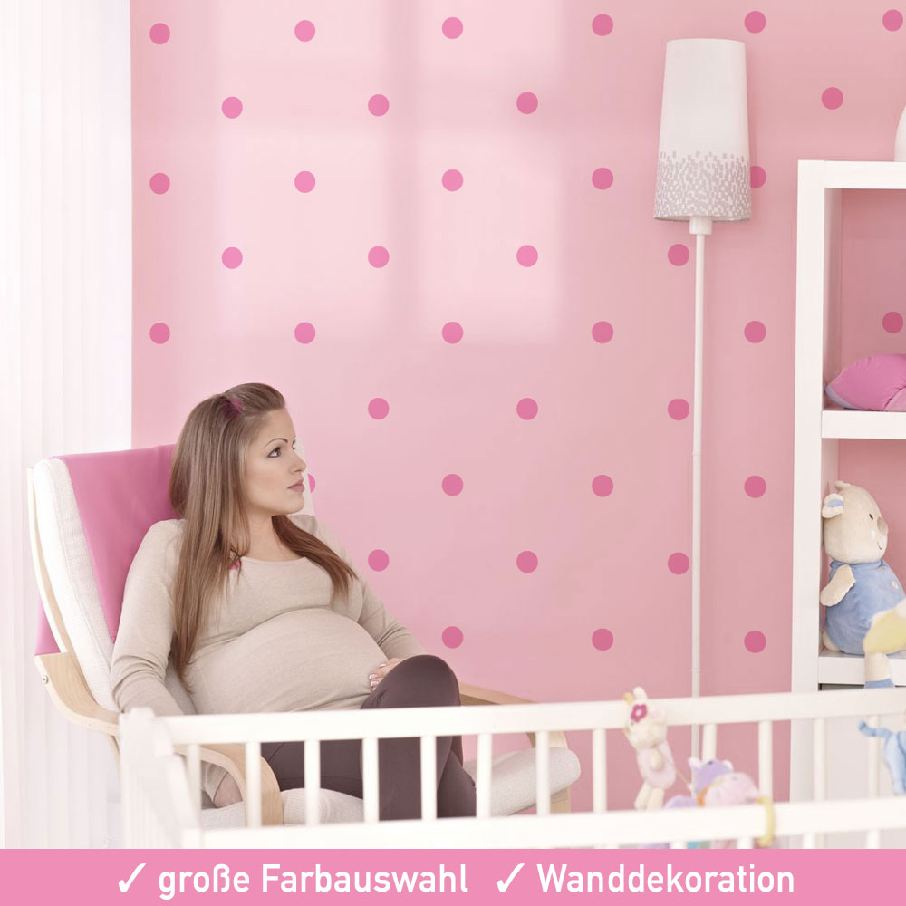 wand konfetti kreise polka aufkleber set 30 mm mattes. Black Bedroom Furniture Sets. Home Design Ideas
