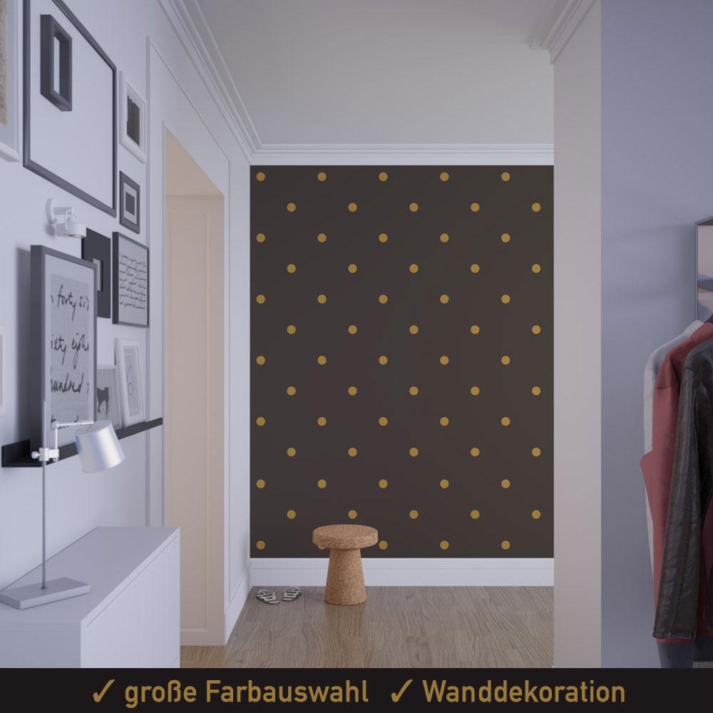 Startbild Wanddekor Dots Polka Aufkleber Set 50 mm