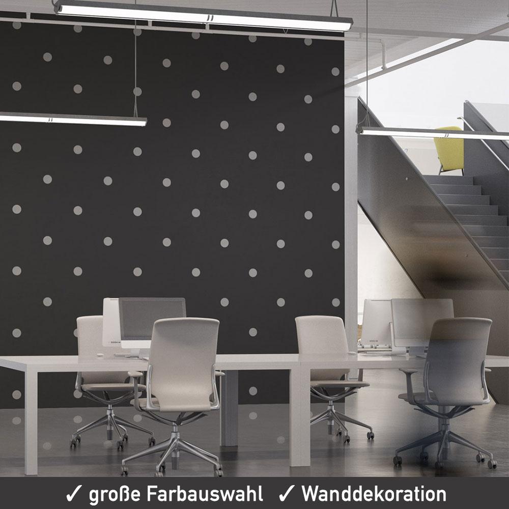 Wandsticker dots punkte aufkleber set 40 mm mattes dekor 84 st ck - Wandsticker punkte ...