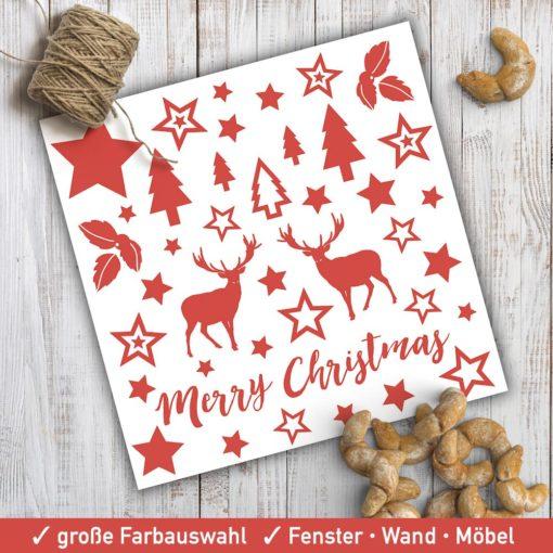 Startbild Weihnachtsdeko Sticker Set 40-teilig