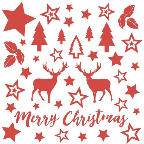 Weihnachtsdeko Sticker Set 40-teilig