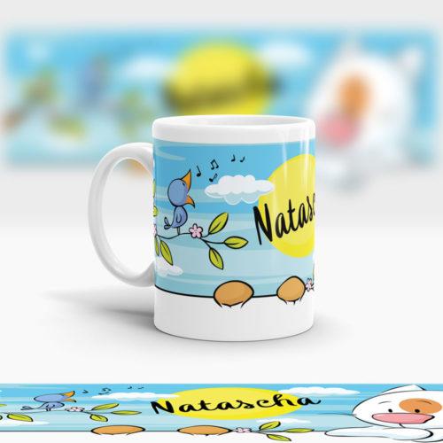 Kunststoff Kinder Tasse für Jungen und Mädchen Ansicht links