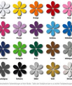 Farbkarte für Aufkleber