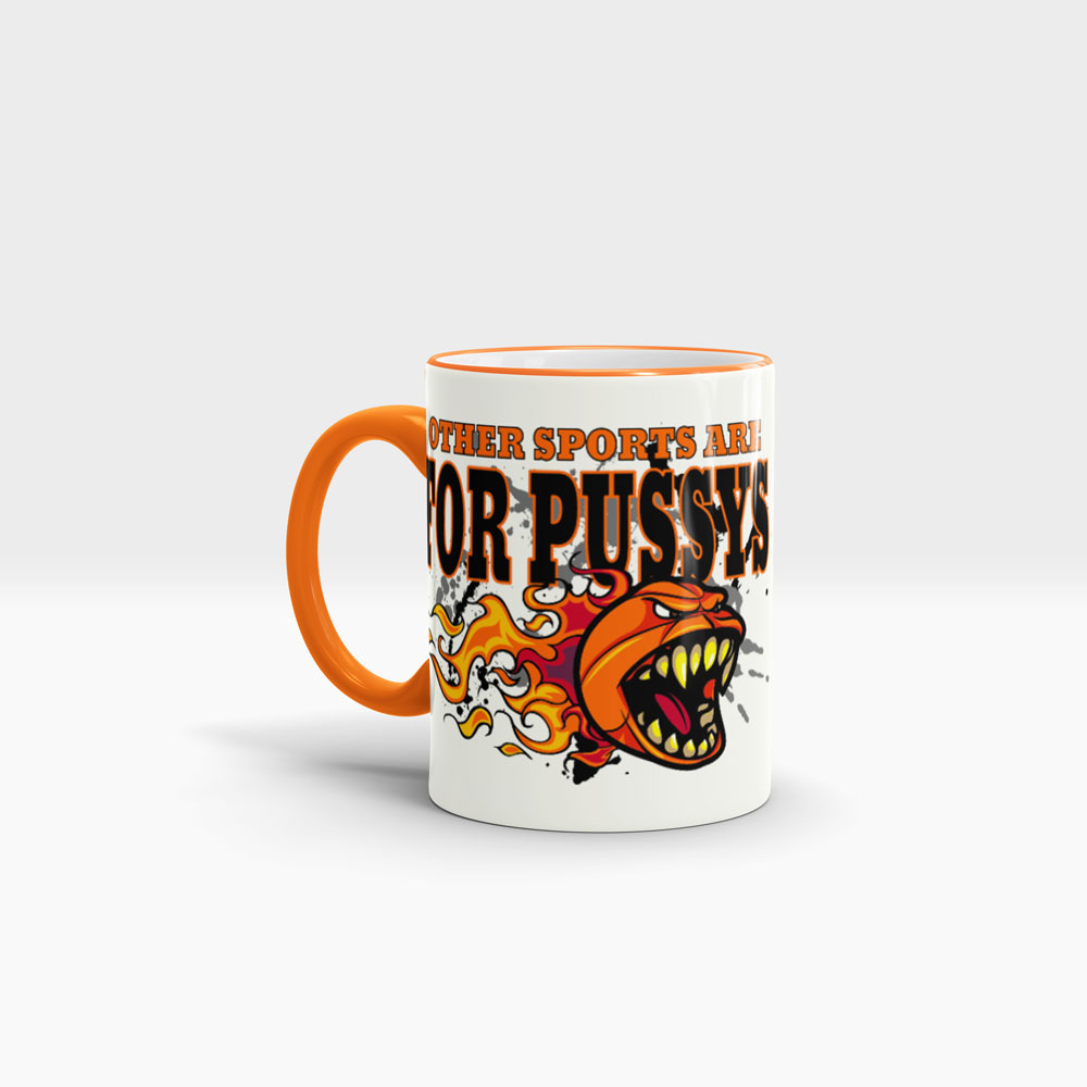 Basketball Kaffeetasse im aggressiven Look Ansicht links