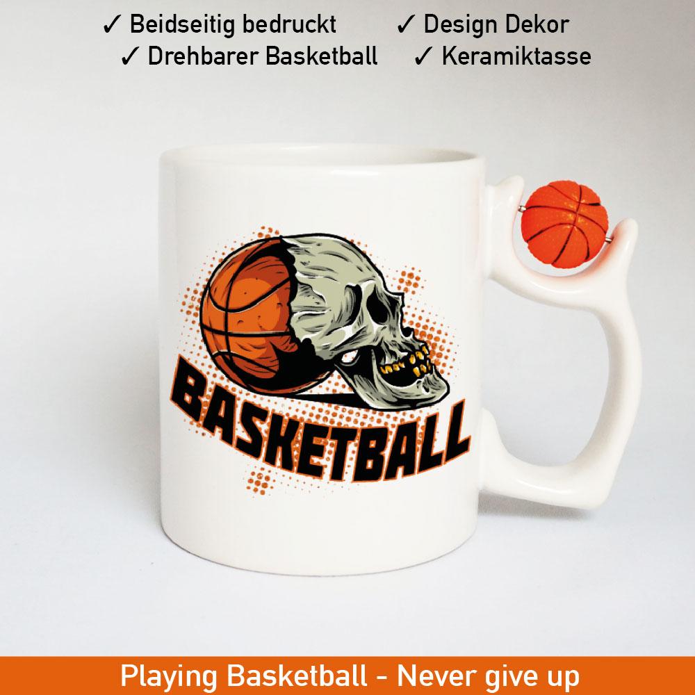 Basketball Logo Tasse mit drehbarem Basketball am Henkel Motiv 3