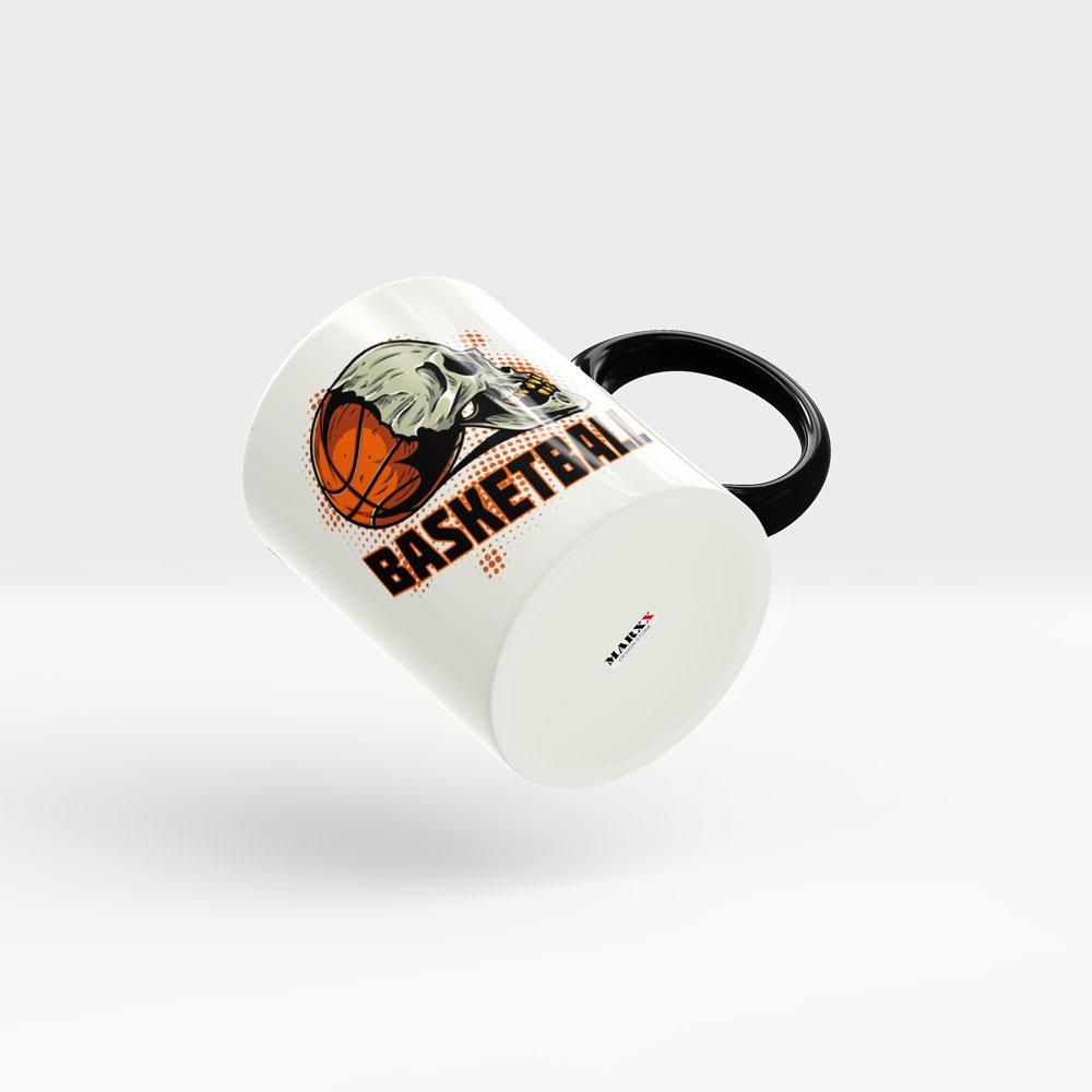 Basketball Motiv Kaffeebecher Ansicht rechts