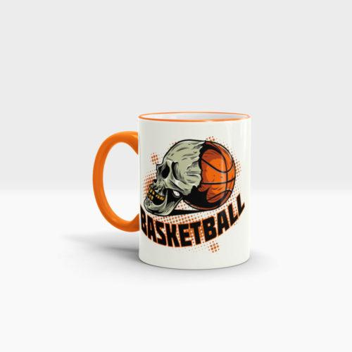 Basketball Tasse bedrucken mit coolem Logo Ansicht links