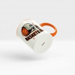 Basketball Tasse bedrucken mit coolem Logo Ansicht rechts