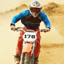 Nummerntafel Motocross Startnummer