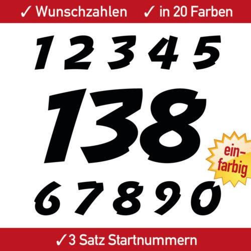 Motocross Startnummer in Farbe weiss