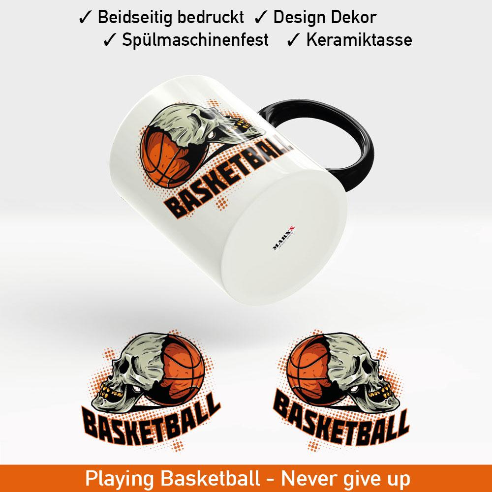 Startbild Basketball Motiv Kaffeebecher
