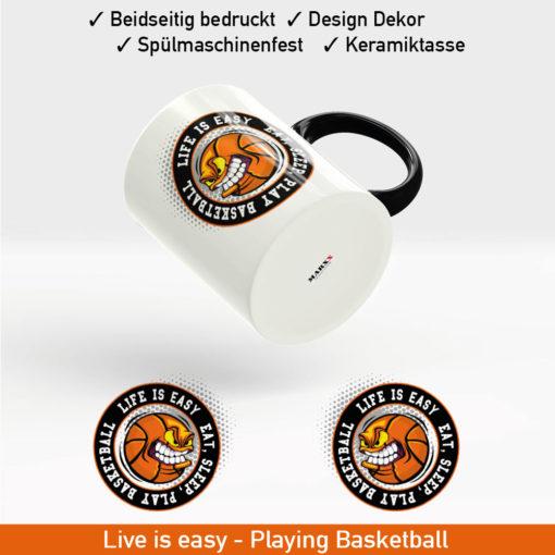 Startbild Basketball Slogan Tasse