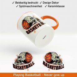 Startbild Basketball Tasse bedrucken mit coolem Logo