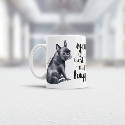 French Bulldog Tasse Ansicht links