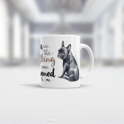 French Bulldog Tasse Ansicht rechts
