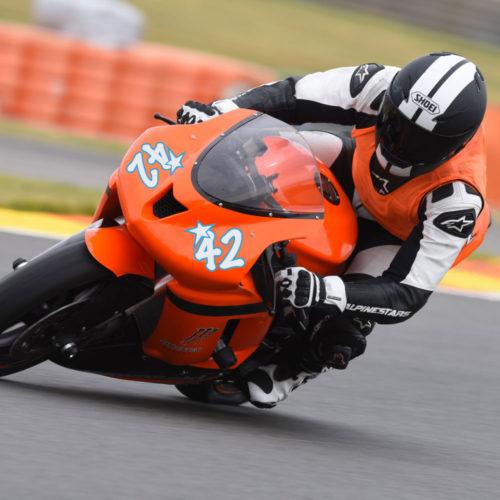 Zweifarbiger Motorrad Aufkleber mit Namen