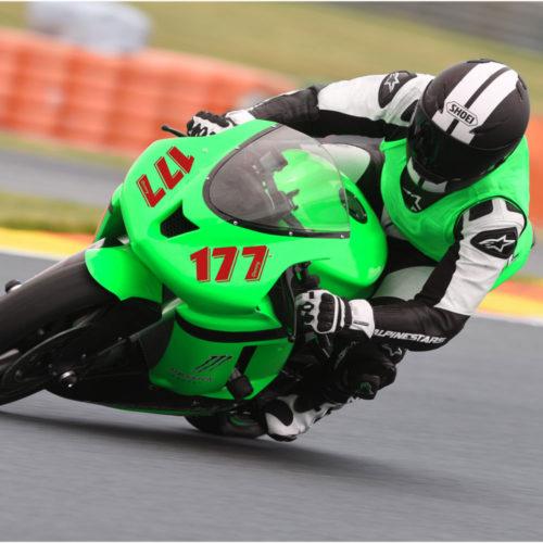 Motorrad Startnummer einfarbig mit Namen