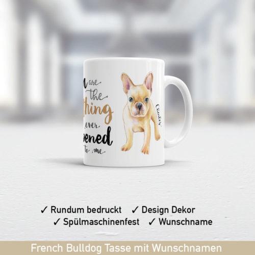Startbild Geschenk französische Bulldogge Motiv Tasse