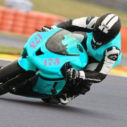 Startnummern Rennsport auf einem Motorrad