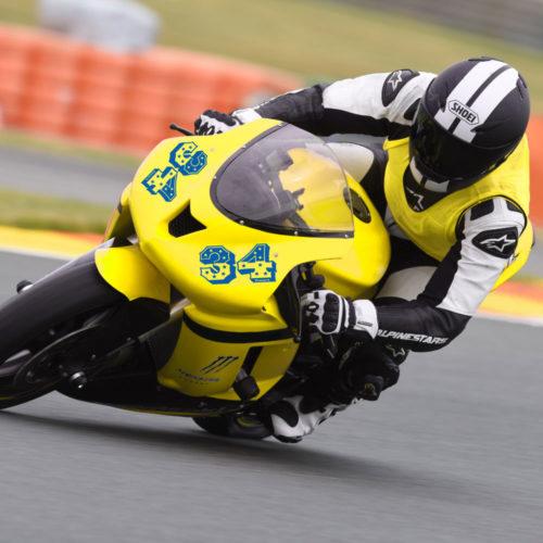 Zahlen Aufkleber Motorrad mit Sternen und Name