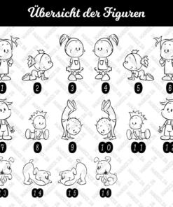 Babyaufkleber mit anderen Figuren