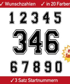 Startnummern Motocrosser