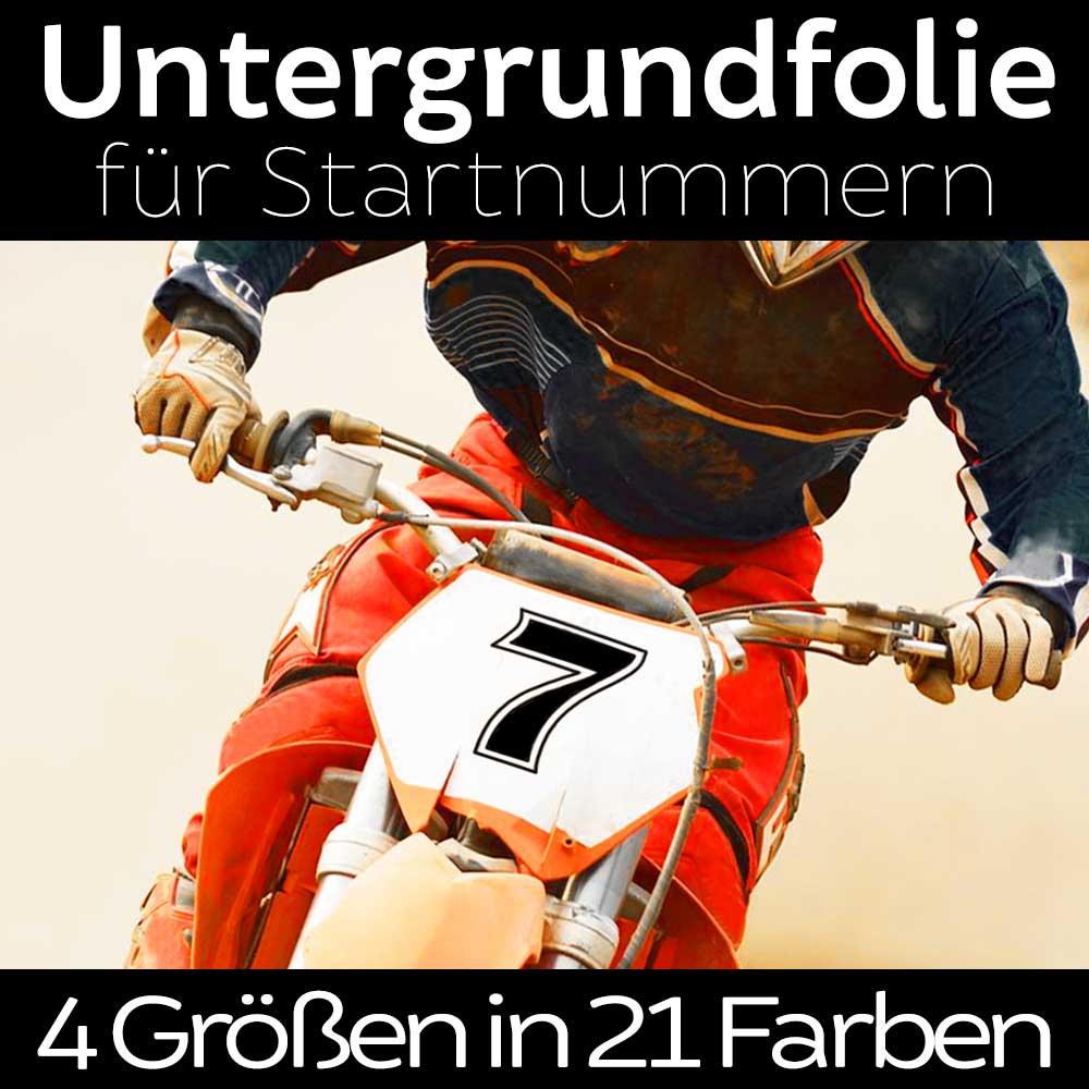 Startnummernfolie für Enduro Rennen