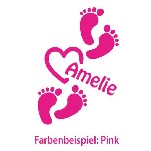 Auto Aufkleber Baby Fußabdruck