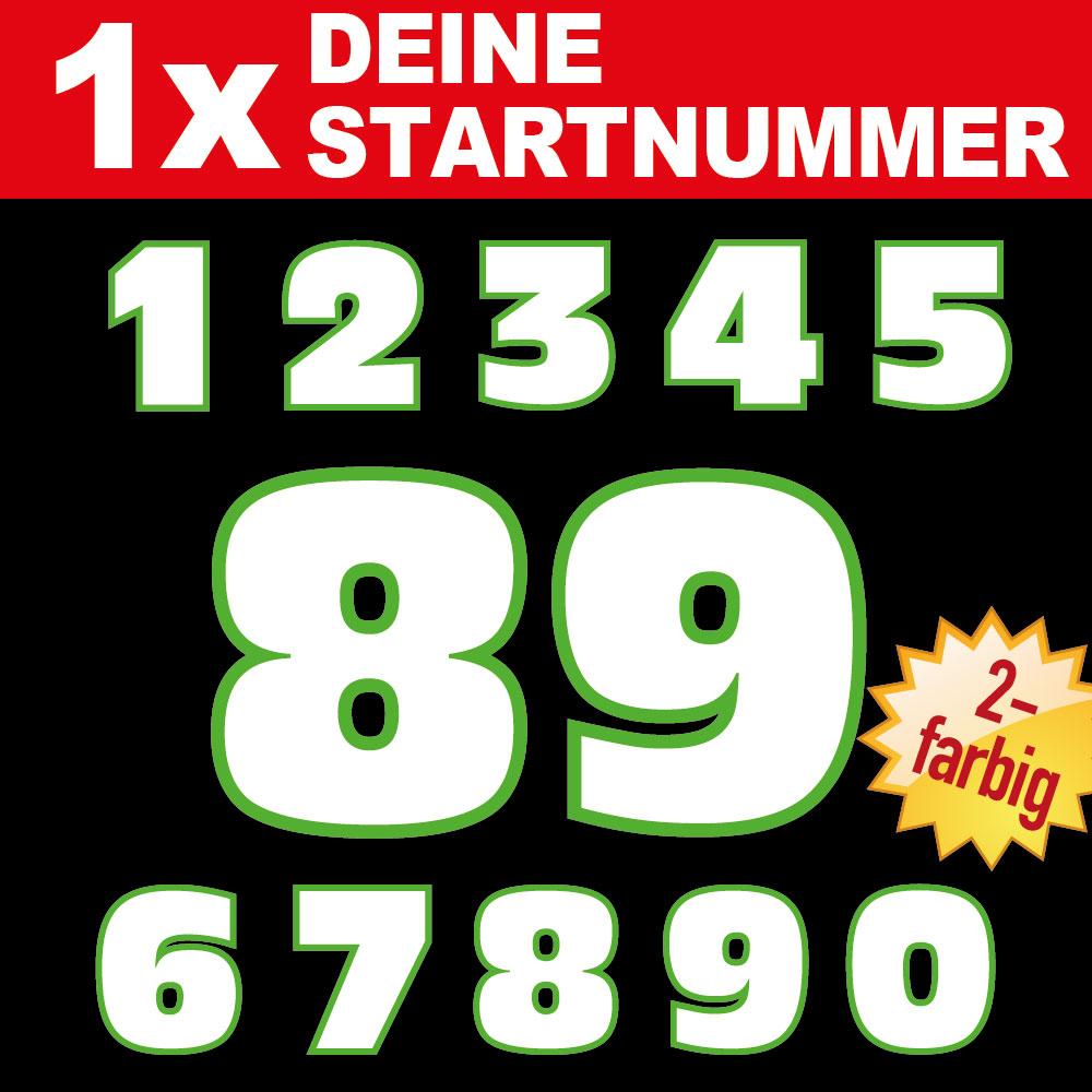 Zweifarbige Startnummern Aufkleber Für Auto Motorrad Boot Ziffern Zahlen 9 10 11 12 13 14 15 Cm Höhe Mx Super Moto