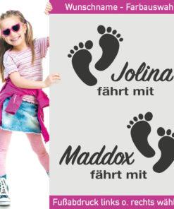 Baby Füße Aufkleber Geschenk
