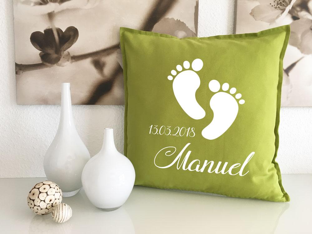 baby kissen zur geburt mit name geburtsdatum geschenk gl ckw nsche. Black Bedroom Furniture Sets. Home Design Ideas