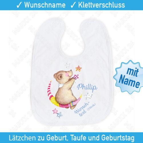 Baby Lätzchen mit Wunschtext und Name
