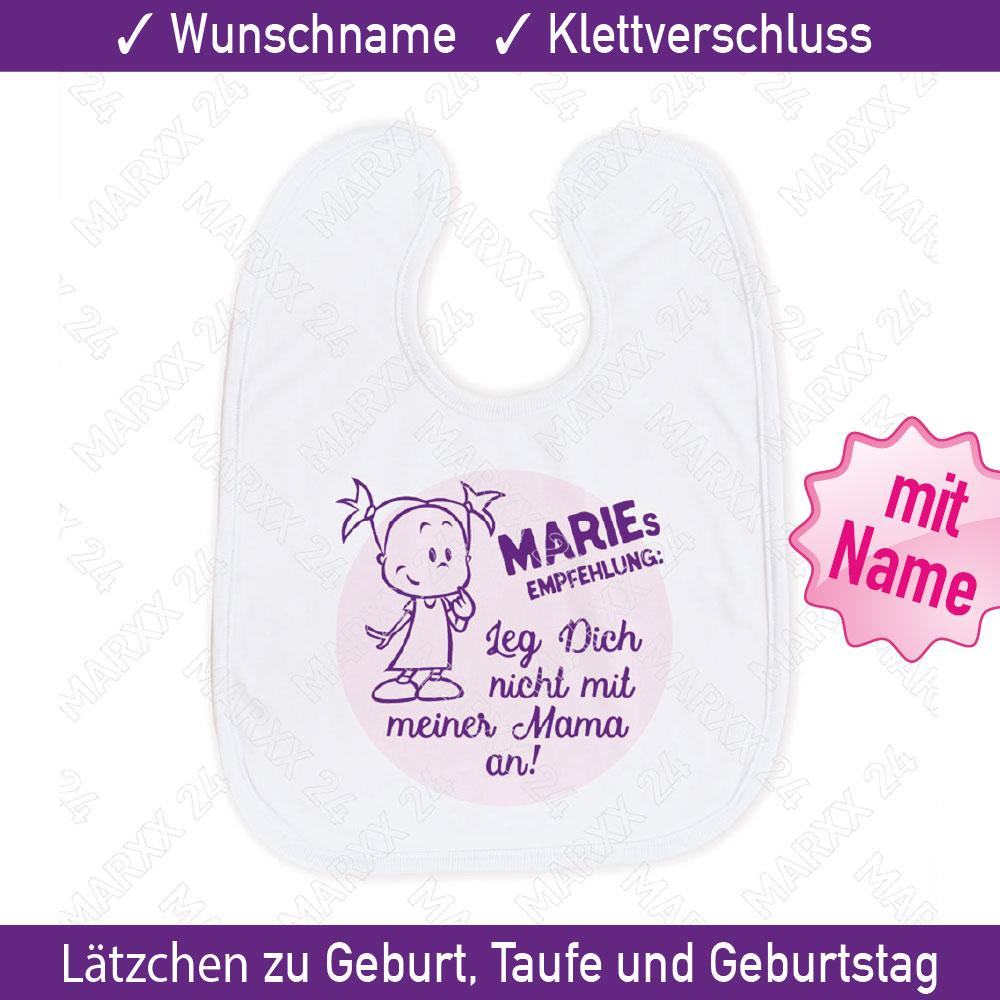 Baby Spruchelatzchen Name Geschenk Spruch Latzchen Geschenkidee