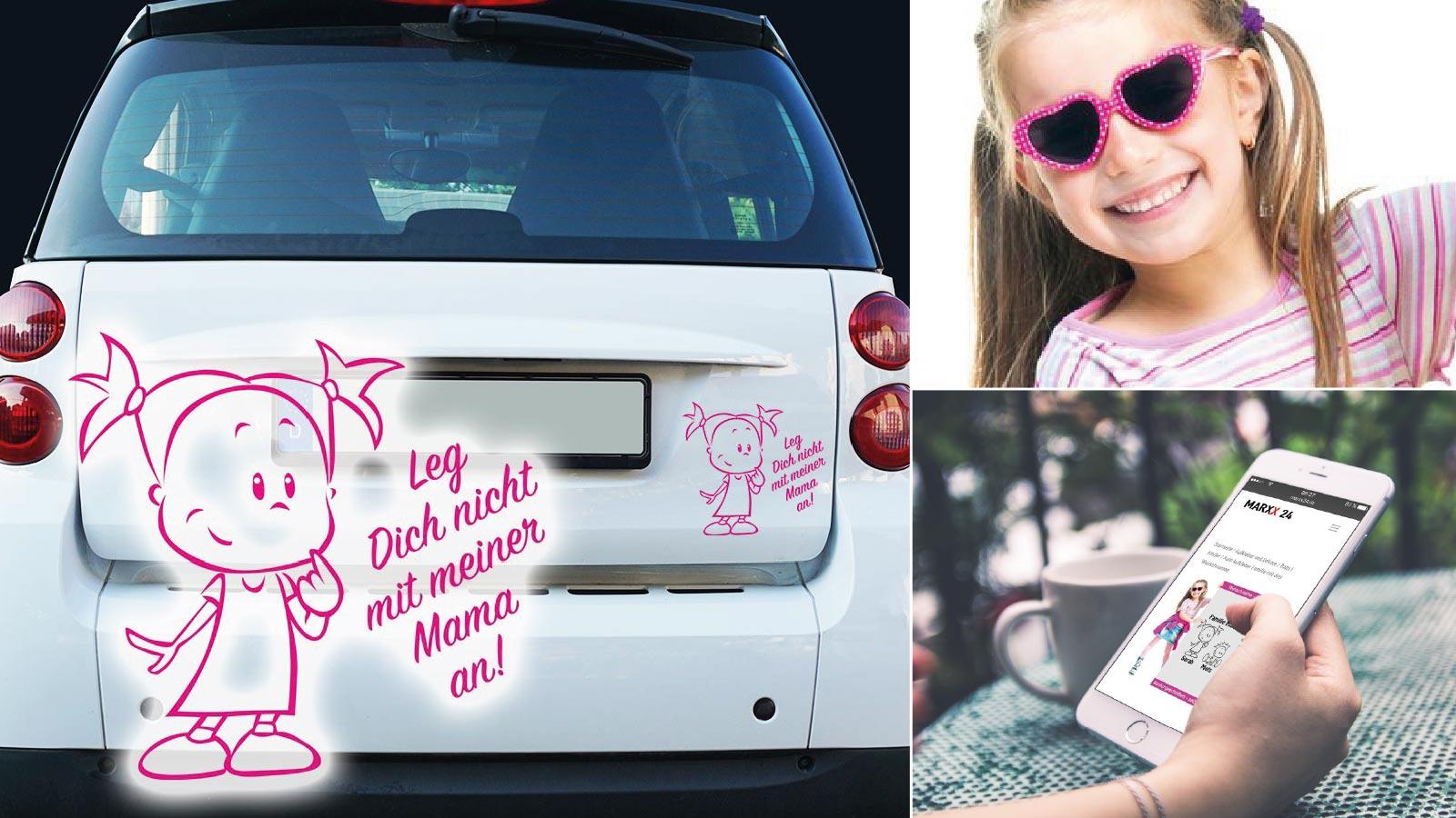 Babyaufkleber mit Namen für das Auto
