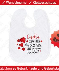 Babylätzchen mit Namen bedrucken lassen