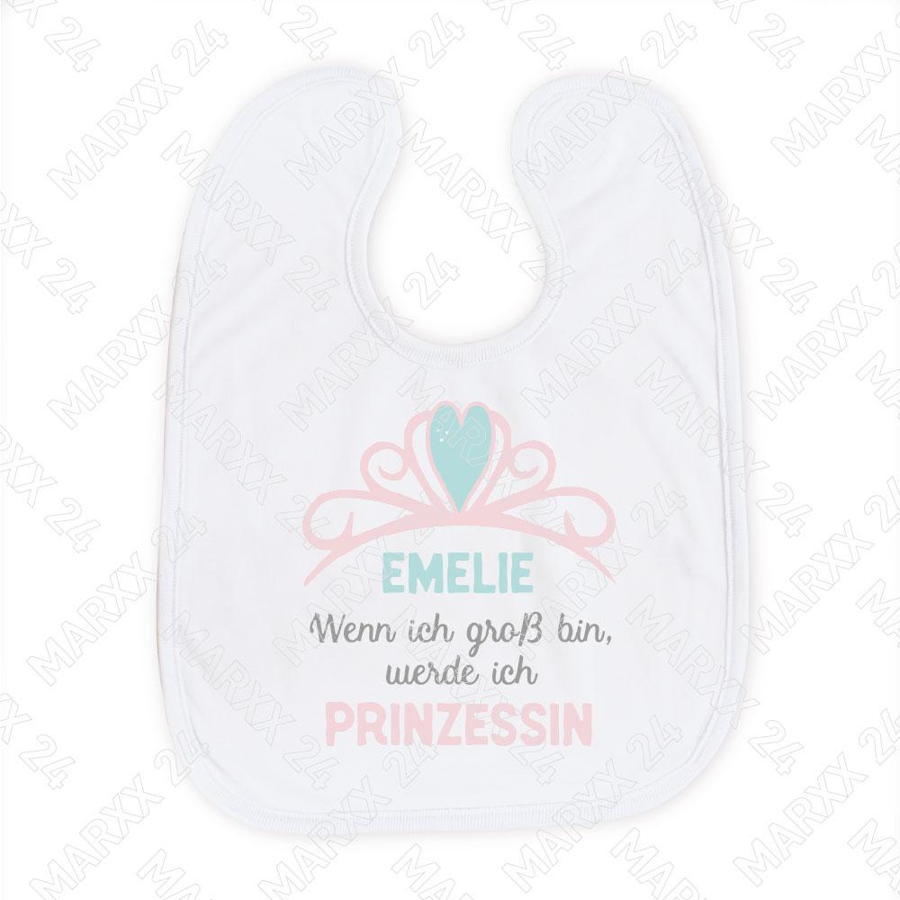 Prinzessin Babylätzchen mit Wunschname