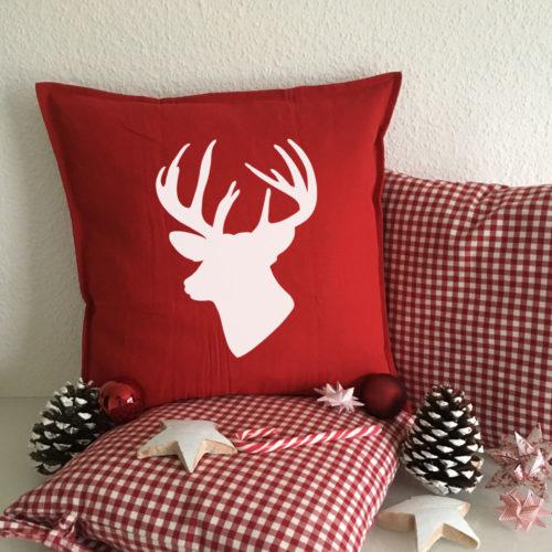 Bedruckte Sofa Kissen für die Weihnachtszeit