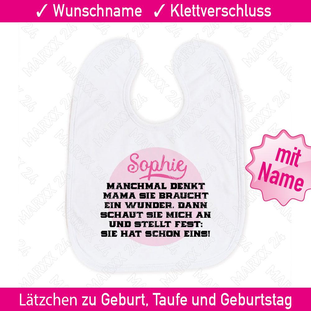 Bedruckte Spruche Baby Latzchen Wunschname Name Geschenk Spruch