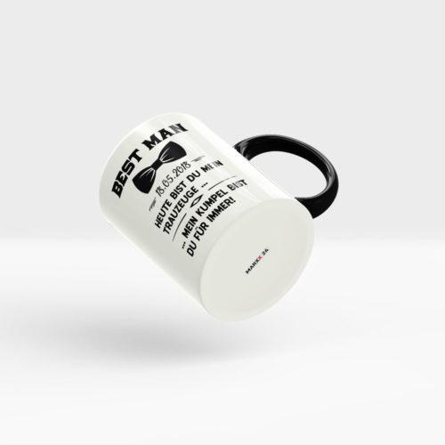 Best Man Kaffee Becher mit Hochzeitsdatum