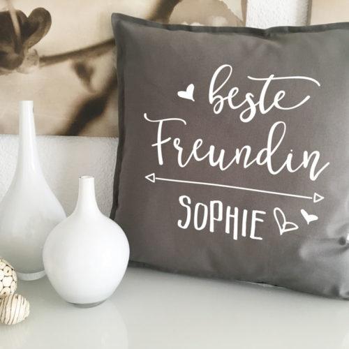 Beste Freundin Kuschelkissen mit Wunschname