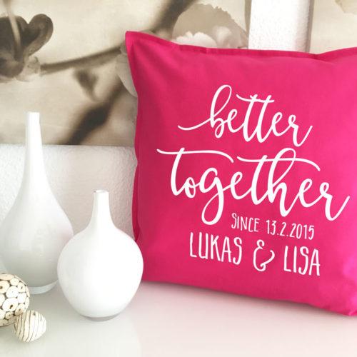 Personalisierte Better together Geschenke