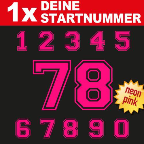 Racing Bike Startnummer in neonpink