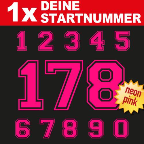 Motor Bike Startnummern in neon pink