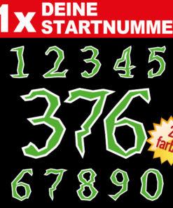 Bikergirl Racing Startnummer zweifarbig