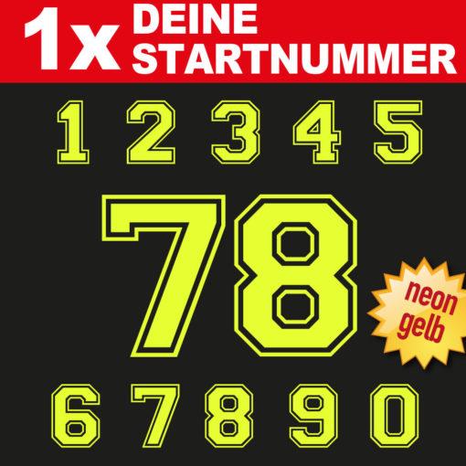 BMX Startnummern in der Farbe neongelb